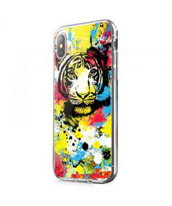 In the Jungle - iPhone X Carcasa Transparenta Silicon