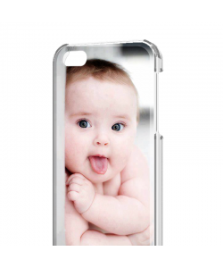 Personalizare - iPhone 4/4S Carcasa Alb/Transparent Plastic