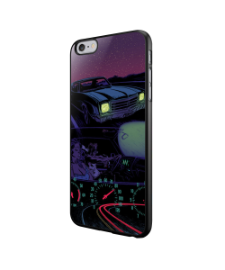 Night Ride - iPhone 6/6S Carcasa Neagra TPU