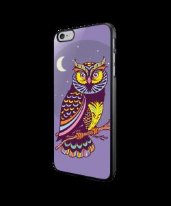 Purple Nights - iPhone 6/6S Carcasa Neagra TPU