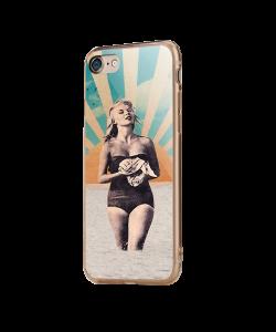 Retro Swim - iPhone 7 / iPhone 8 Carcasa Transparenta Silicon