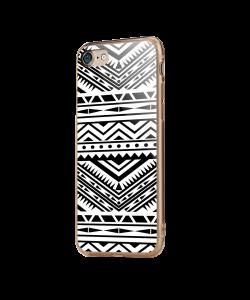 Tribal Black & White - iPhone 7 / iPhone 8 Carcasa Transparenta Silicon