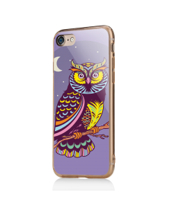 Purple Nights - iPhone 7 / iPhone 8 Carcasa Transparenta Silicon
