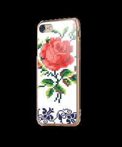 Red Rose - iPhone 7 / iPhone 8 Carcasa Transparenta Silicon
