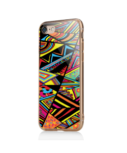Patchy Stripes - iPhone 7 / iPhone 8 Carcasa Transparenta Silicon