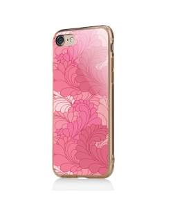 Rosy Feathers - iPhone 7 / iPhone 8 Carcasa Transparenta Silicon