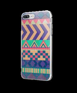 Tribal Pastel - iPhone 7 Plus / iPhone 8 Plus Carcasa Transparenta Silicon