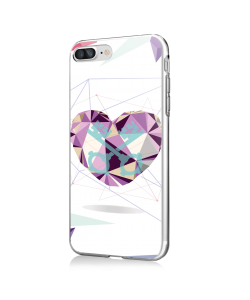 Love Keys - iPhone 7 Plus / iPhone 8 Plus Carcasa Transparenta Silicon