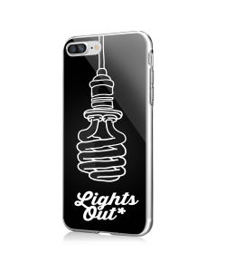 Lights Out - iPhone 7 Plus / iPhone 8 Plus Carcasa Transparenta Silicon