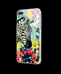 Zebra Splash - iPhone 7 Plus / iPhone 8 Plus Carcasa Transparenta Silicon