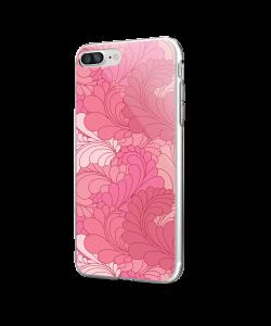 Rosy Feathers - iPhone 7 Plus / iPhone 8 Plus Carcasa Transparenta Silicon