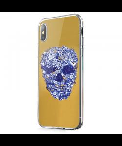 Floral Skull - iPhone X Carcasa Transparenta Silicon