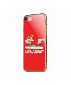 Run the Blunt - iPhone 7 / iPhone 8 Carcasa Transparenta Silicon