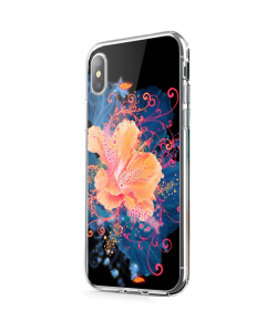 Abstract Flower - iPhone X Carcasa Transparenta Silicon