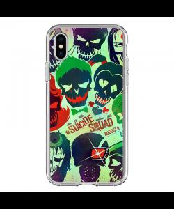 Suicide Joker - iPhone X Carcasa Transparenta silicon