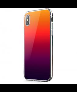 Sunset Gradients - iPhone X Carcasa Transparenta Silicon