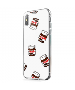 Nutella Pattern - iPhone X Carcasa Transparenta Silicon
