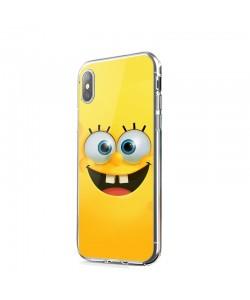Spongebob - iPhone X Carcasa Transparenta Silicon