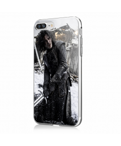 Jon Snow 2 - iPhone 7 Plus / iPhone 8 Plus Carcasa Transparenta Silicon