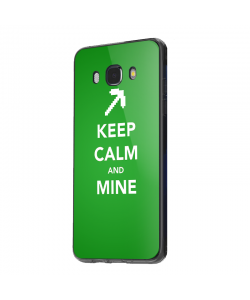 Keep calm and mine - Samsung Galaxy J5 Carcasa Silicon