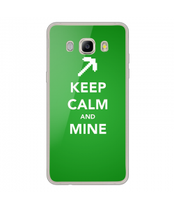 Keep Calm and Mine - Samsung Galaxy J3 2017 Carcasa Transparenta Silicon
