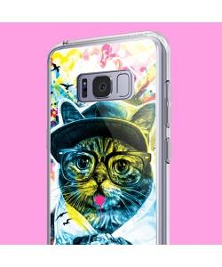 Hipster Meow - Samsung Galaxy S8 Carcasa Premium Silicon
