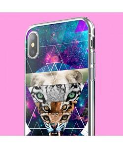 Tiger Swag - iPhone X Carcasa Transparenta Silicon