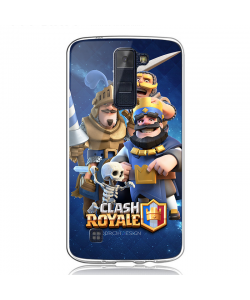 Clash Royale - LG K8 2017 Carcasa Transparenta Silicon