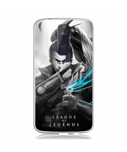 League of Legends Yasuo 2 - LG K8 2017 Carcasa Transparenta Silicon