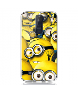 Minions - LG K8 Carcasa Transparenta Silicon