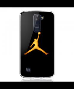 Golden Jordan Logo - LG K8 2017 Carcasa Transparenta Silicon