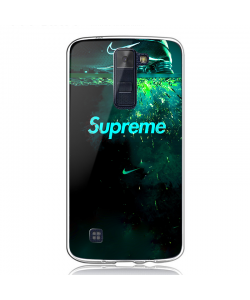 Nike X Supreme - LG K8 2017 Carcasa Transparenta Silicon