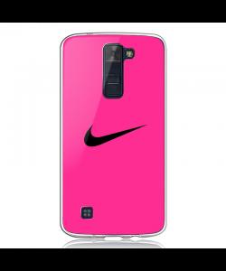 Pink Nike - LG K8 2017 Carcasa Transparenta Silicon