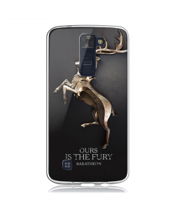 GoT House Baratheon - LG K8 Carcasa Transparenta Silicon