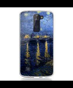 Van Gogh - Starryrhone - LG K8 2017 Carcasa Transparenta Silicon