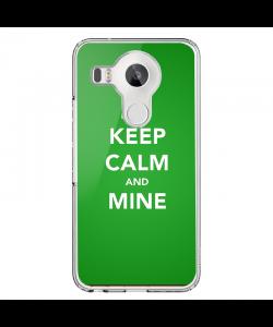 Keep Calm and Mine - LG Nexus 5X Carcasa Transparenta Silicon