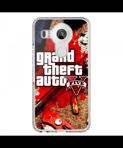 Grand Theft Auto V - LG Nexus 5X Carcasa Transparenta Silicon