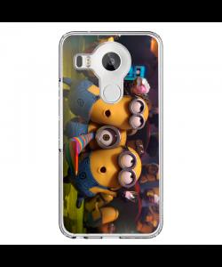 Party Minions - LG Nexus 5X Carcasa Transparenta Silicon