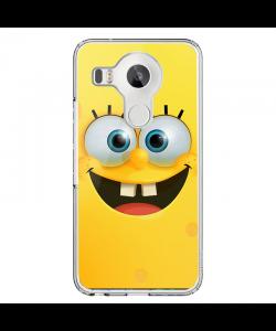 Spongebob - LG Nexus 5X Carcasa Transparenta Silicon