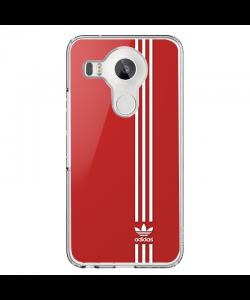 Red Adidas - LG Nexus 5X Carcasa Transparenta Silicon