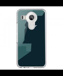 Batman Black & Grey - LG Nexus 5X Carcasa Transparenta Silicon