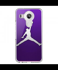 Purple Jordan - LG Nexus 5X Carcasa Transparenta Silicon