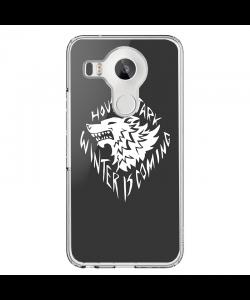 GoT House Stark - LG Nexus 5X Carcasa Transparenta Silicon