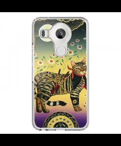 Tanaka Cat - LG Nexus 5X Carcasa Transparenta Silicon