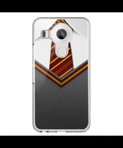 Harry Potter Tie - LG Nexus 5X Carcasa Transparenta Silicon