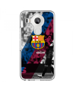 FC Barcelona 2 - LG Nexus 5X Carcasa Transparenta Silicon