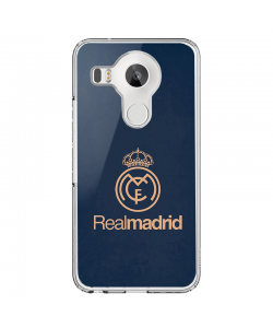 Real Madrid - LG Nexus 5 Carcasa Transparenta Silicon
