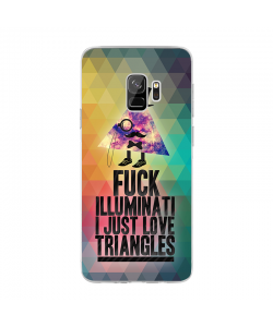 Love Triangles - Samsung Galaxy S9 Carcasa Transparenta Silicon