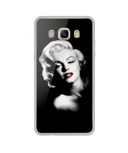 Marilyn - Samsung Galaxy J7 Carcasa Silicon Transparent