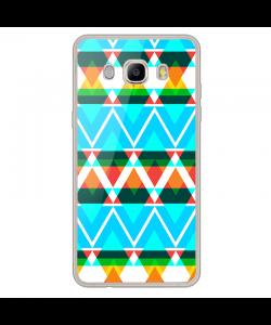 Neon Aztec - Samsung Galaxy J7 Carcasa Silicon Transparent